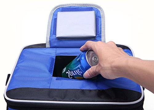 MIER Large Soft Bag Insulated Lunch Bag Picnic Cooler Tote with Dispensing Lid, Pockets