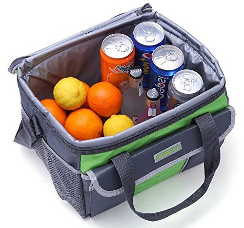 MIER Large Cooler Bag Lunch Box Bag Picnic with Pockets