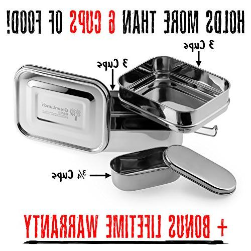Stainless Steel 6 of + Insert Steel | ECO-Safe Healthy | Perfect for