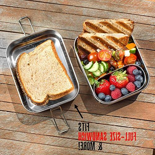 Lunch LIFE-TIME WARRANTY | 6 Cups of + Pod | TOP-GRADE Durable Steel | ECO-Safe Healthy both