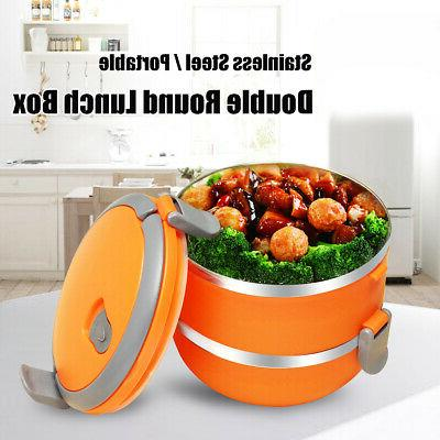 Stainless Thermal Insulated Lunch Box Bento Food