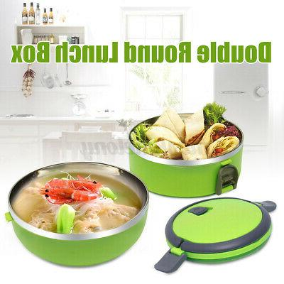 stainless steel 2 layers thermal insulated lunch
