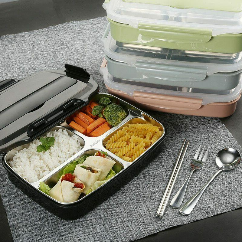 stainless steel thermal insulated lunch box food