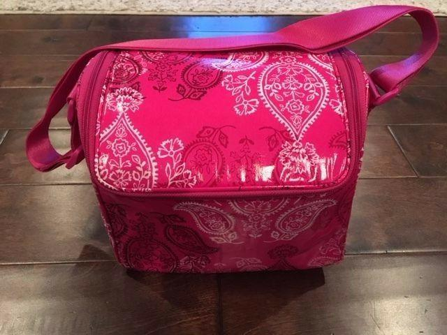 New Vera Bradley Stamped Paisley Stay Cooler Lunch Tote/Box
