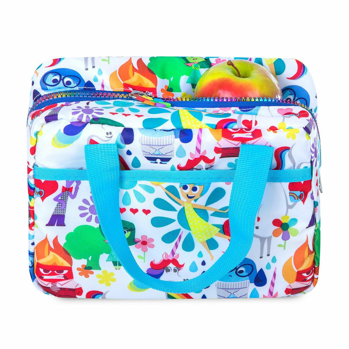 Disney Lunch Box Tote Sadness Anger Disgust Fear Unicorn