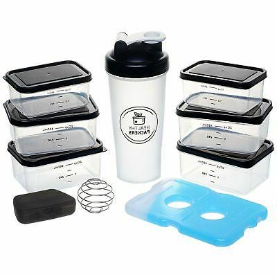 Travel Food Lunch Bag Shaker Meal Office Gym