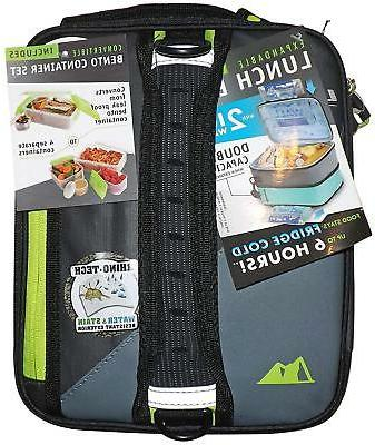 Arctic Zone 1 Ultra Lunch Box Expandable Black Gray