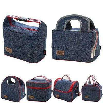 Portable Insulated Lunch Box Unisex Bag Small & Large Food C