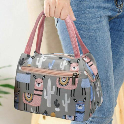 US Portable Insulated Lunch Bag Box Picnic Waterproof