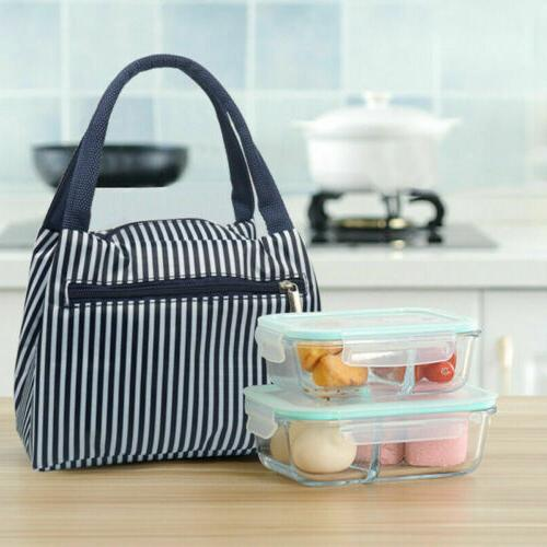 US Portable Insulated Lunch Bag Box Picnic