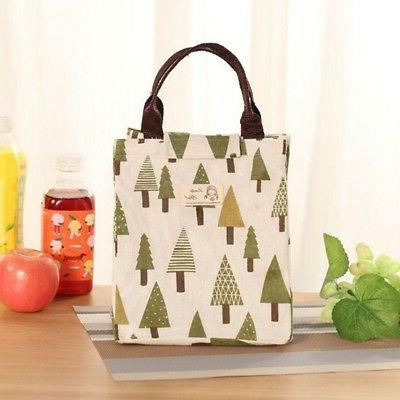 Women Lunch Insulated Canvas Bag Box