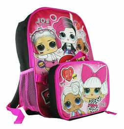 L.O.L. Surprise lol Girl School Book bag Backpack Lunch Box