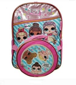 L.O.L. Surprise School Backpack Book Bag & Soft Lunch Box To