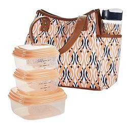 Fit & Fresh Ladies' Westerly Insulated Lunch Bag Set with Re