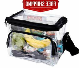 Large Clear Lunch Bag Lunch Box with Adjustable Strap and As
