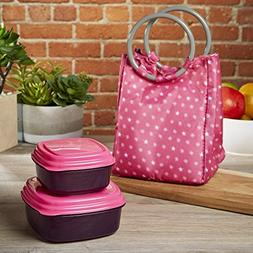 Fit & Fresh Lauren Kids' Insulated Bag with Reusable Contain