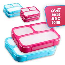 Leakproof Bento Lunchboxes, Lunch Containers 3 Compartments