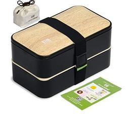 Original BentoHeaven Bento Box Bundle with FREE Lunch Bag, D