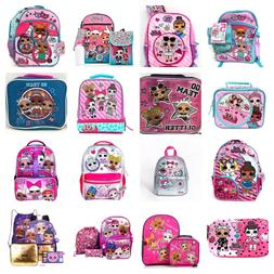 LOL Surprise Backpack or 5 PC Set Or Lunch Box Or Pencil Cas
