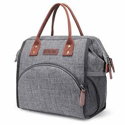 LOKASS Lunch Bag Insulated Cooler Bag Wide-Open Lunch Tote B