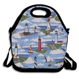 Lunch Bag Lighthouses Scene Big Sable Lunch Tote Bag Bags Aw