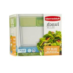 Rubbermaid Lunch Blox Salad Kit With Topping Tray and Dressi