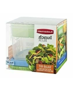 Rubbermaid Lunch Blox Salad Kit With Topping Tray & Dressing