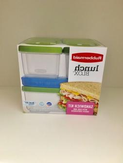 Rubbermaid Lunch Blox Sandwich Kit W. Side & Snack Container
