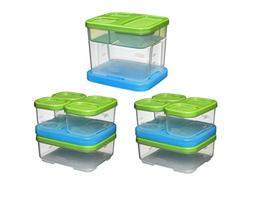 Rubbermaid Lunch Blox Set 3 kits Lunch Boxe, New