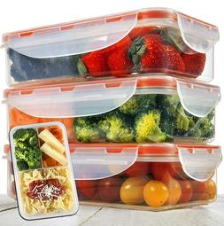 Lunch Box 3pcs set 24oz - Meal Prep Containers Microwavable