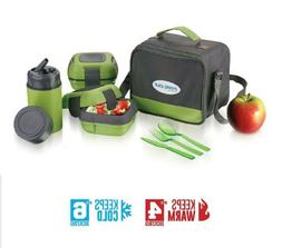 Pinnacle Lunch Box Bag Set kit Adults and Kids Insulated Lea