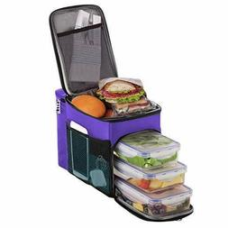 Lunch box For Men Insulated cooler Lunch bag w/ 3 compartmen