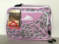 lunch box pink and grey leopard print