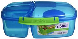Sistema Lunch Collection Triple Split Lunch Box with Yogurt