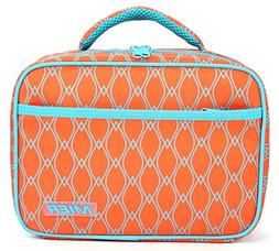 MIER Kids Lunch Box, Fit in Backpack, Orange