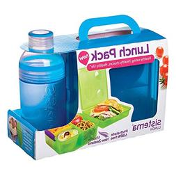 Sistema Lunch Collection Lunch Box and Bottle Pack, Color Re
