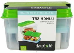 Fit And Fresh Lunch Set With Removable Ice Pack - 1 Containe