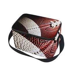 Lunch Tote Gallery Nfl Ball Mens Insulated Lunch Bag Zipper