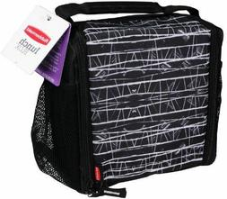 Rubbermaid LunchBlox Medium Durable Lunch Bag, Black Etch