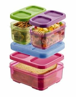 Rubbermaid Lunchblox Kids Tall Lunch Bag Kit, Purple/Pink/Gr