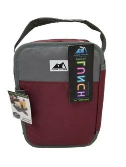 maroon insulated lunch box bag container food