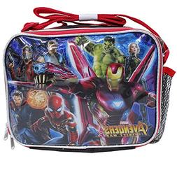 Marvel Avengers Infinity War Black & Red Insulated Lunch Bag