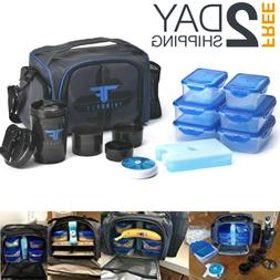 Meal Management Bag 6 Pack Portion Control Containers Gym Fi