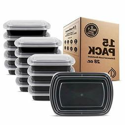 Meal Prep Containers 1 Compartment with Lids Food Storage Be
