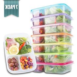 Meal Prep Containers 3 Compartment - Food Storage Containers
