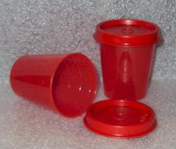 Tupperware Midgets Pill Containers 2oz Bowls, Set of 2 Sheer