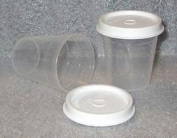 Tupperware Midgets Pill Containers 2oz Bowls, Set of 2 Clear