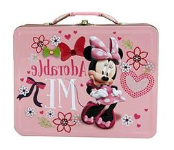 The Tin Box Company 527637-12 Minnie Mouse Large Tin Carry A