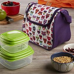 Morgan 3 Piece Kids Insulated Lunch Bag Set with Chilled San