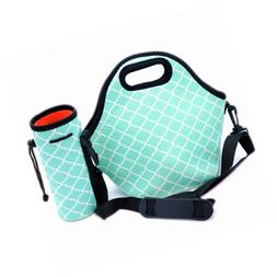 neoprene lunch bag with zipper strap box